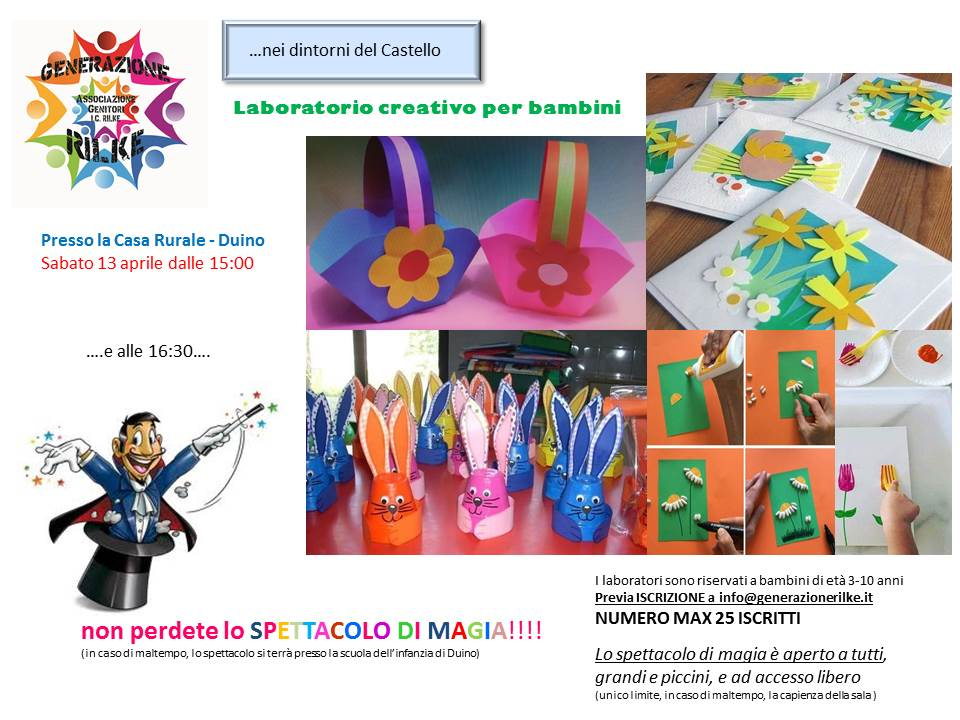 Estremamente Laboratorio creativo per Bambini! - Istituto Comprensivo Rilke YE72